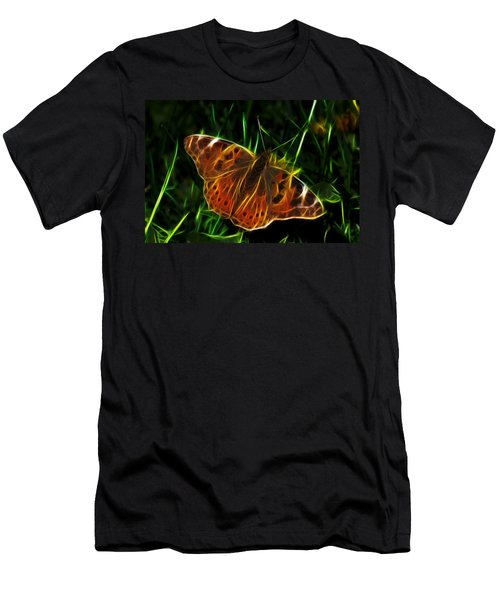 Glowing Butterfly Men's T-Shirt (Athletic Fit)