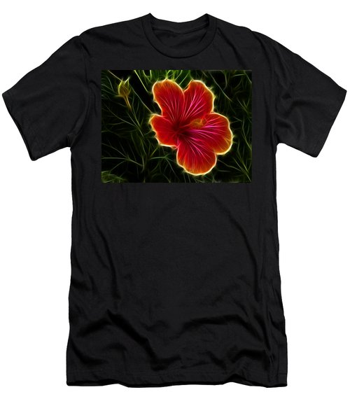 Glowing Hibiscus Men's T-Shirt (Athletic Fit)