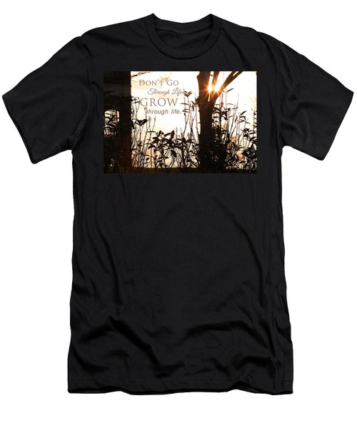 Glowing Landscape With Message Men's T-Shirt (Athletic Fit)