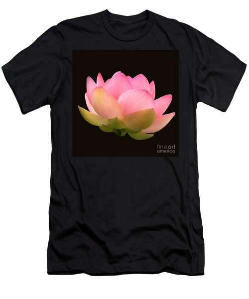 Glowing Lotus Square Frame Men's T-Shirt (Athletic Fit)