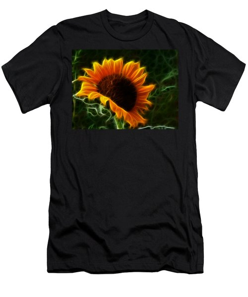 Glowing Sunflower Men's T-Shirt (Athletic Fit)