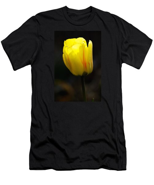 Glowing Tulip Men's T-Shirt (Slim Fit) by Shelly Gunderson