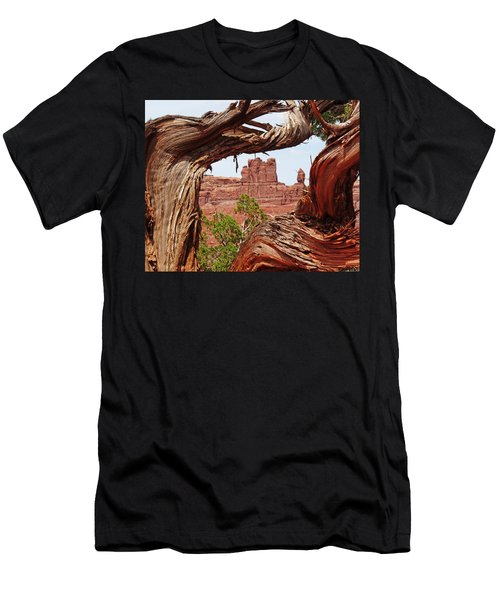 Men's T-Shirt (Slim Fit) featuring the photograph Gnarly Tree by Alan Socolik
