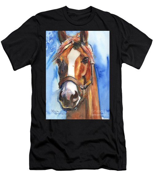 Horse Painting Of California Chrome Go Chrome Men's T-Shirt (Athletic Fit)