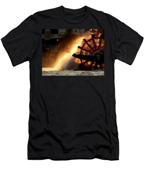 New Orleans Steamboat Natchez On The Mississippi River Men's T-Shirt (Athletic Fit)