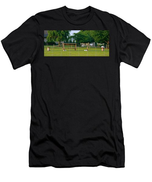 Goat Playground Men's T-Shirt (Athletic Fit)