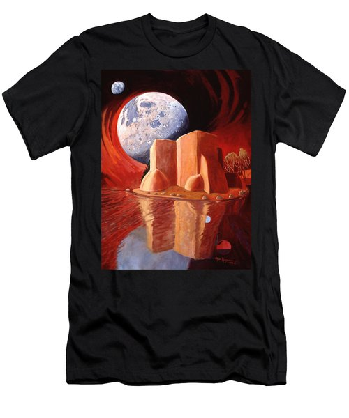 God Is In The Moon Men's T-Shirt (Athletic Fit)