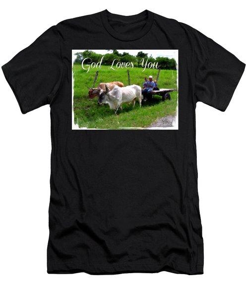 God Loves You Men's T-Shirt (Athletic Fit)