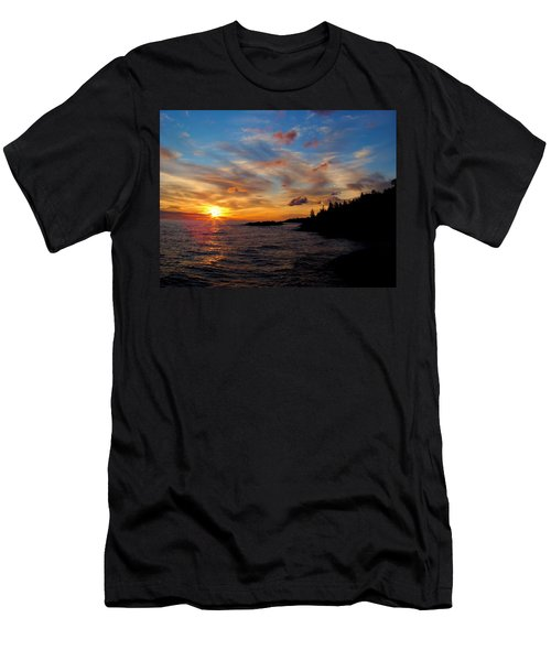 Men's T-Shirt (Slim Fit) featuring the photograph God's Morning Painting by Bonfire Photography
