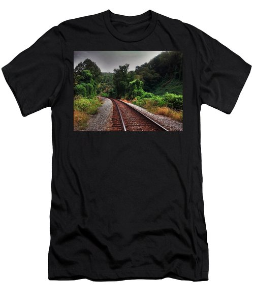 Men's T-Shirt (Slim Fit) featuring the photograph Going Somewhere by Janice Spivey