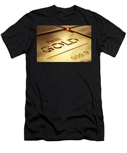 Gold Bars Close-up Men's T-Shirt (Athletic Fit)