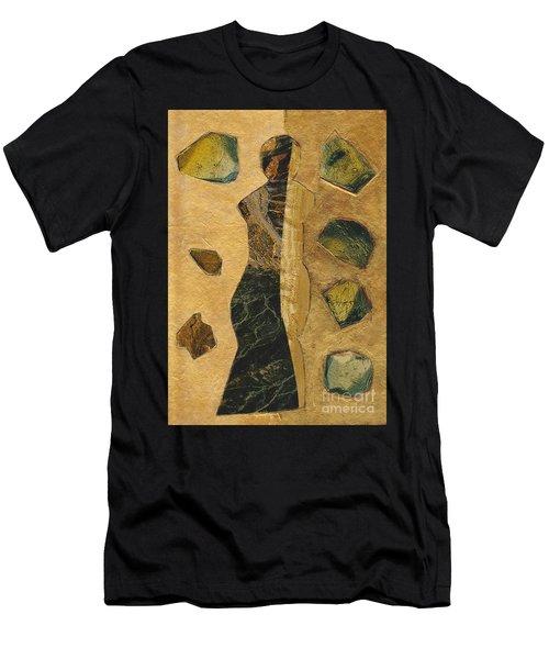 Gold Black Female Men's T-Shirt (Athletic Fit)