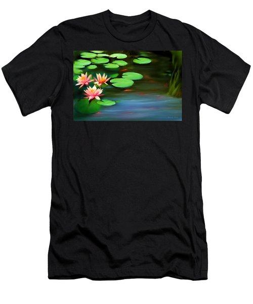 Gold Fish Pond Men's T-Shirt (Athletic Fit)