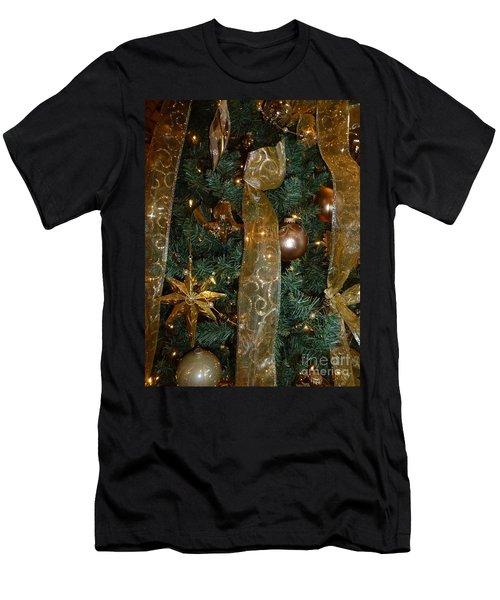 Gold Tones Tree Men's T-Shirt (Athletic Fit)