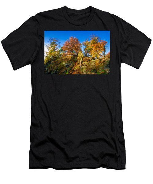 Golden Autumn On Neurathen Castle Men's T-Shirt (Athletic Fit)