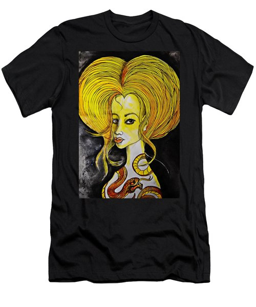 Men's T-Shirt (Slim Fit) featuring the painting Golden Core by Sandro Ramani