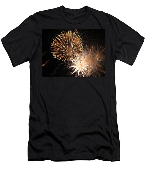 Men's T-Shirt (Slim Fit) featuring the photograph Golden Fireworks by Rowana Ray