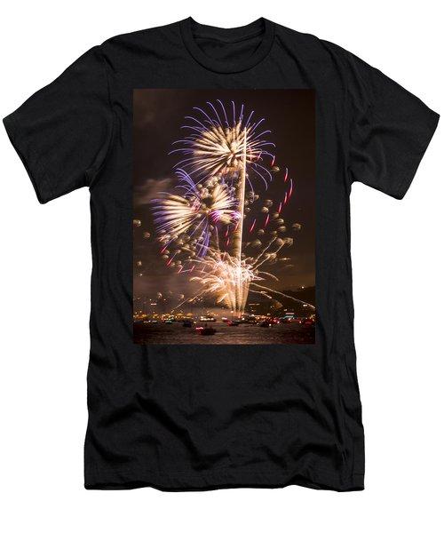 Golden Gate Bridge 75th Anniversary Fireworks 10 Men's T-Shirt (Athletic Fit)