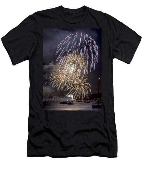 Golden Gate Bridge 75th Anniversary Fireworks 15 Men's T-Shirt (Athletic Fit)