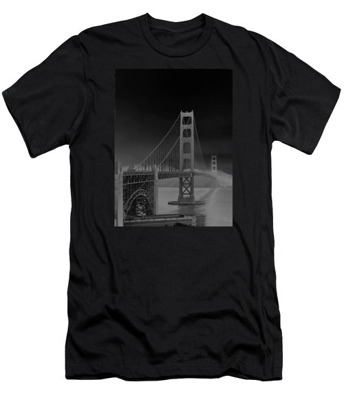 Golden Gate Bridge To Sausalito Men's T-Shirt (Slim Fit) by Connie Fox