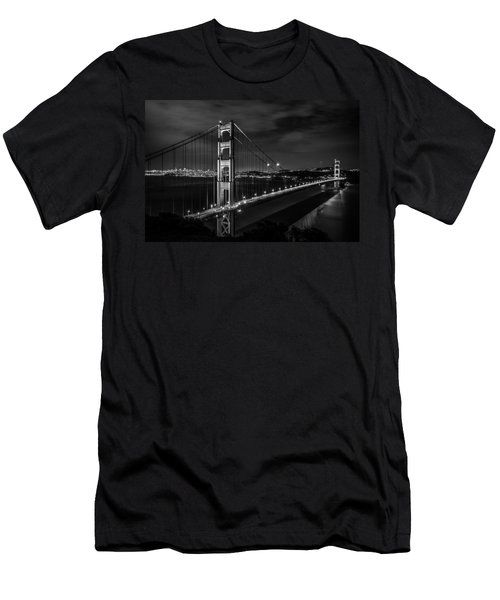 Golden Gate Evening- Mono Men's T-Shirt (Athletic Fit)