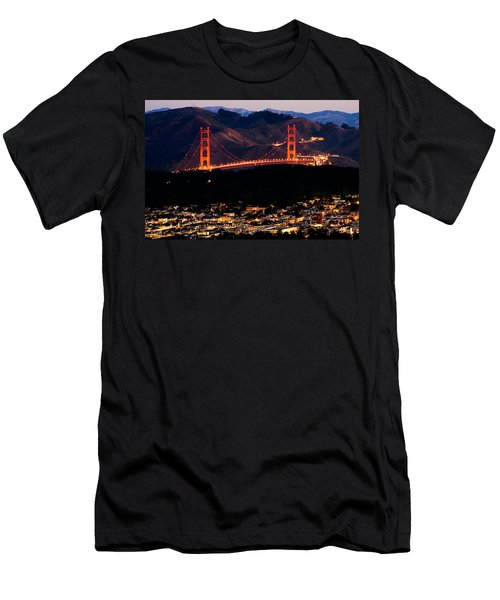 Golden Gate Sunrise Men's T-Shirt (Athletic Fit)