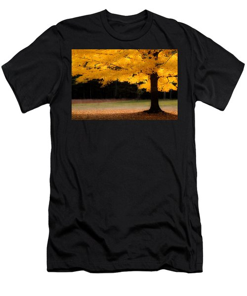 Golden Glow Of Autumn Fall Colors Men's T-Shirt (Slim Fit) by Jeff Folger