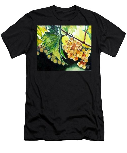 Men's T-Shirt (Slim Fit) featuring the painting Golden Grapes by Julie Brugh Riffey