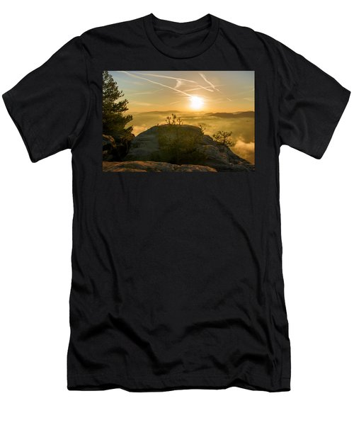 Golden Morning On The Lilienstein Men's T-Shirt (Athletic Fit)