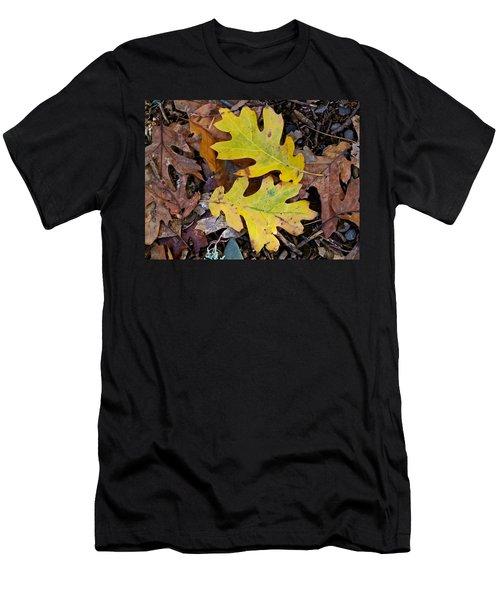 Golden Oak Leaf Duet Men's T-Shirt (Athletic Fit)