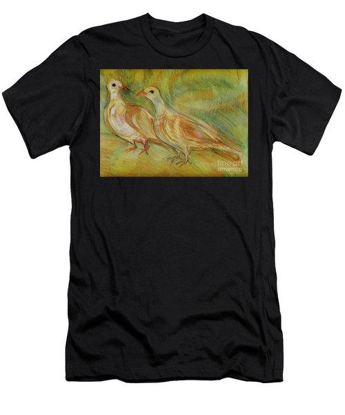Golden Pigeons Men's T-Shirt (Athletic Fit)
