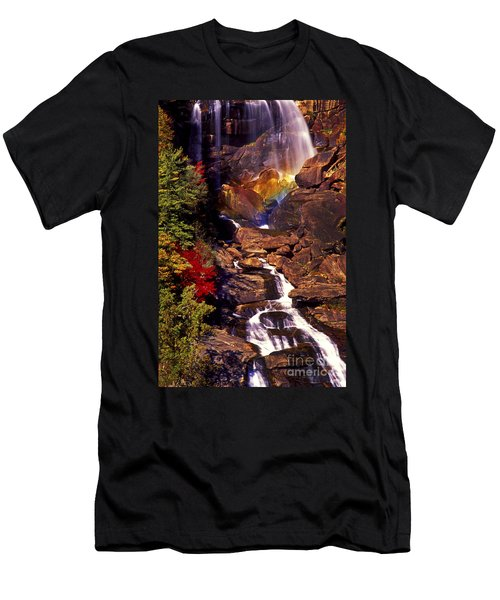 Golden Rainbow Men's T-Shirt (Slim Fit) by Paul W Faust -  Impressions of Light