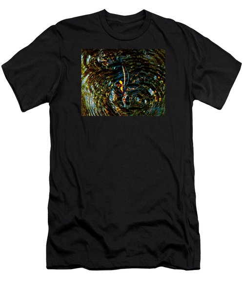 Golden Ripples Men's T-Shirt (Slim Fit) by Lehua Pekelo-Stearns