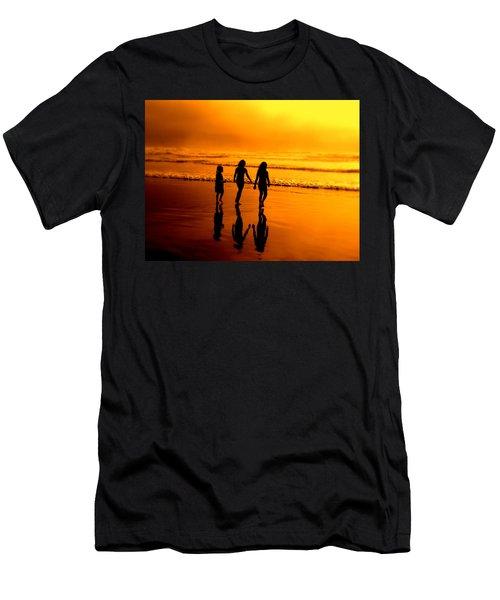 Golden Sands  Men's T-Shirt (Athletic Fit)