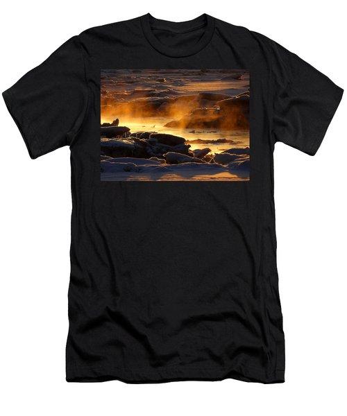 Golden Sea Smoke At Sunrise Men's T-Shirt (Slim Fit) by Dianne Cowen