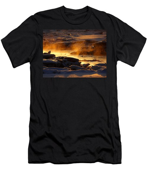 Golden Sea Smoke At Sunrise Men's T-Shirt (Athletic Fit)