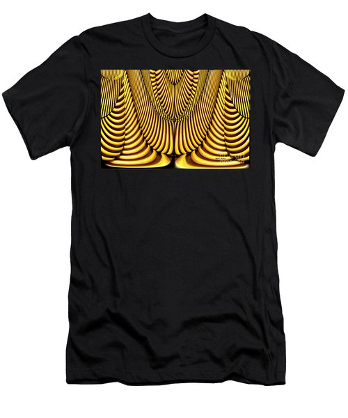 Men's T-Shirt (Slim Fit) featuring the painting Golden Slings by Rafael Salazar