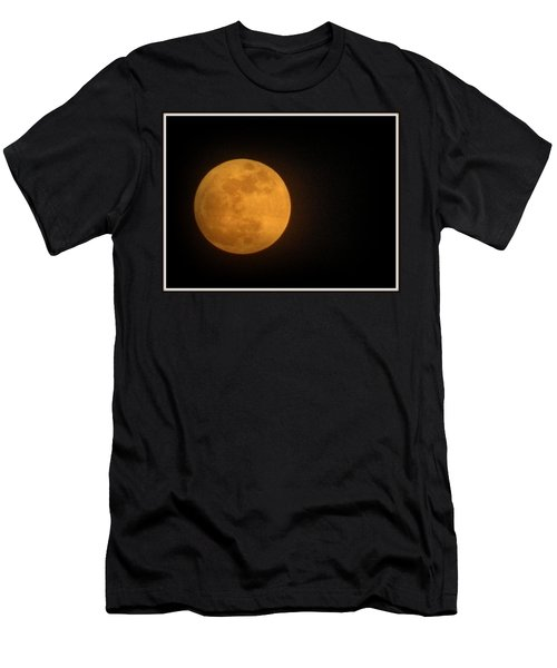 Golden Super Moon Men's T-Shirt (Athletic Fit)