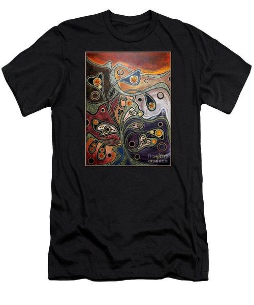 Golden Thought Men's T-Shirt (Slim Fit) by Jolanta Anna Karolska
