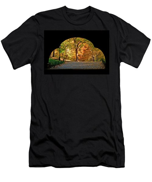 Golden Underpass Men's T-Shirt (Athletic Fit)