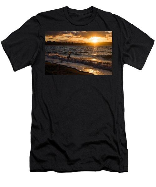 Golden Wings Golden Water Men's T-Shirt (Athletic Fit)