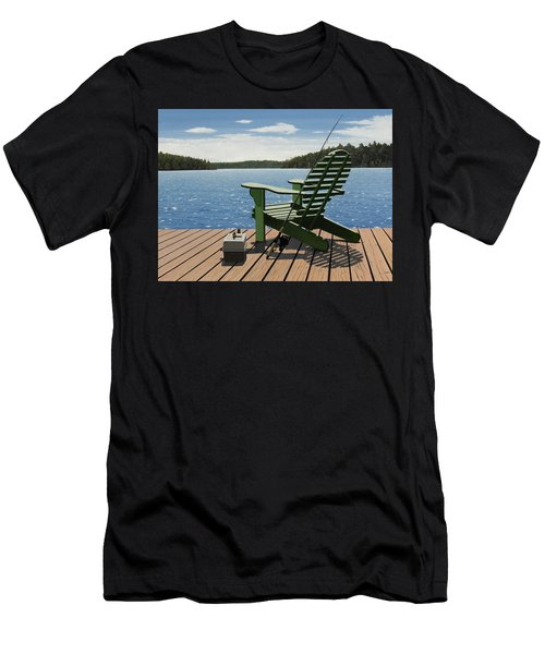 Gone Fishing Aka Fishing Chair Men's T-Shirt (Athletic Fit)