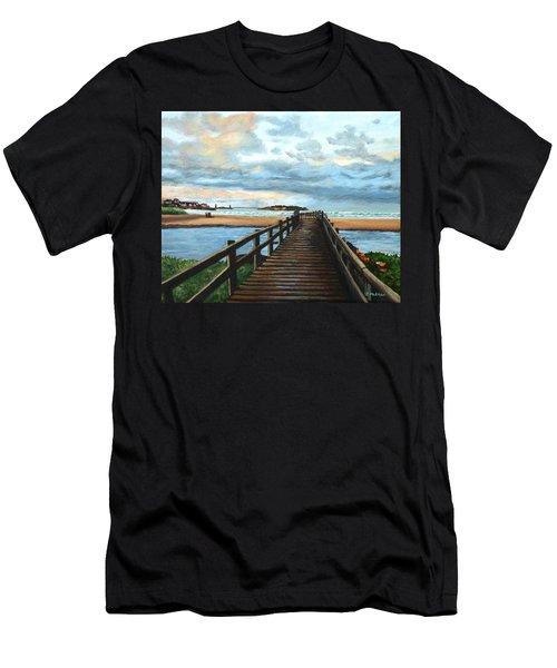 Good Harbor Beach Gloucester Men's T-Shirt (Athletic Fit)