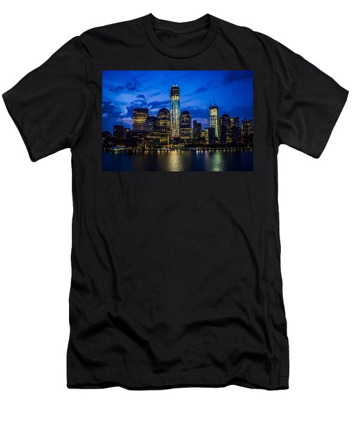Good Night, New York Men's T-Shirt (Slim Fit) by Sara Frank