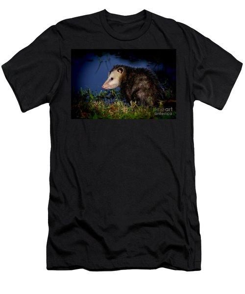 Men's T-Shirt (Slim Fit) featuring the photograph Good Night Possum by Olga Hamilton