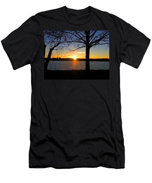 Good Night Potomac River Men's T-Shirt (Slim Fit) by Emmy Marie Vickers