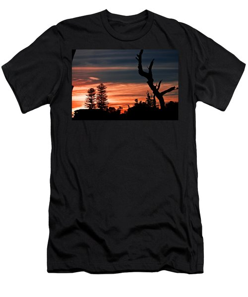 Men's T-Shirt (Slim Fit) featuring the photograph Good Night Trees by Miroslava Jurcik