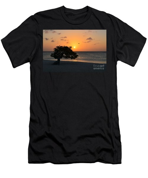 Gorgeous Sunset Men's T-Shirt (Slim Fit) by DejaVu Designs