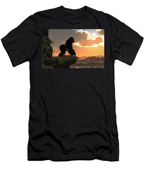 Gorilla Sunset Men's T-Shirt (Athletic Fit)