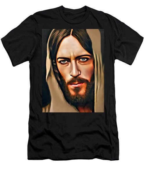 Men's T-Shirt (Slim Fit) featuring the digital art Got Jesus? by Karen Showell